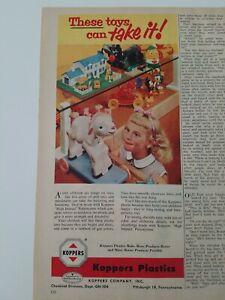 1954-Koppers-Plastiques-Vintage-Jouets-Poupee-Humpty-Dumpty-Donald-Duck-Annonce