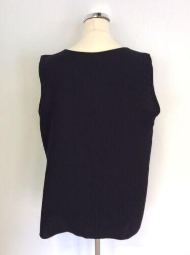 Satsuma Layered V Size Black Top Neck 20 Sleeveless 575U4wxn