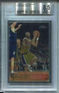 1996 Topps Chrome Basketball 138 Kobe Bryant Rookie Card BGS NM Mint+ 8.5 w 9.5s