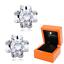 Indexbild 1 - Zirkonia Blumen Ohrstecker aus 925 Silber Sterlingsilber + Luxus LED Schmuckbox
