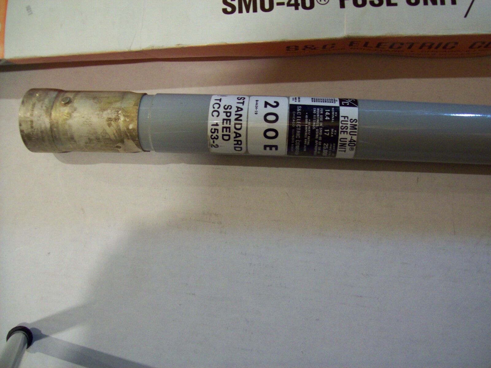 S&C SMU-40 Fuse Unit  14.4KV Nom 17.0KV Max 200E TCC 153-2