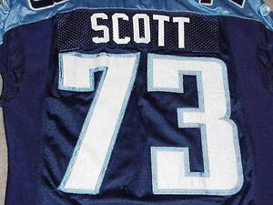 new product 4222c e923d Details about Jake Scott Game Worn Jersey 2008 Tennessee Titans