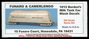 LMH-Funaro-F-amp-C-1012-BORDEN-039-S-BUTTERDISH-MILK-TANK-CAR-Black-w-EXPRESS-TRUCKS