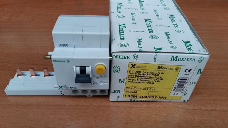 MOELLER EATON 262568 PBSM-404 003 BLOC DIFFéRENTIEL 4P 40A 0,03