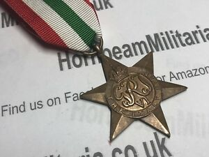 Original-World-War-Two-Italy-Star-British-Campaign-Medal-101