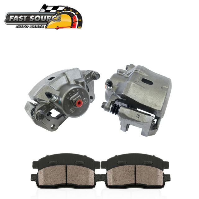 Front + Rear Brake Calipers + Ceramic Pads For 2004 2005