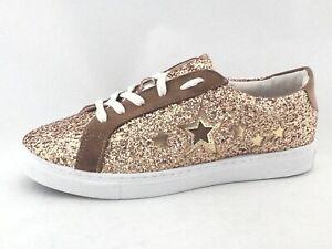 547d75f81 SAM EDELMAN CIRCUS Sneakers Vanellope-1 Gold Glitter w Stars US 8 EU ...