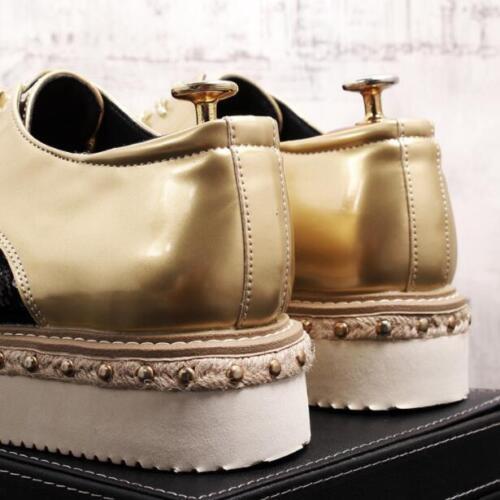plataforma mocasines británica cordones Moda zapatos para Muffins tallado con Brogue hombre bt02 8d0wa