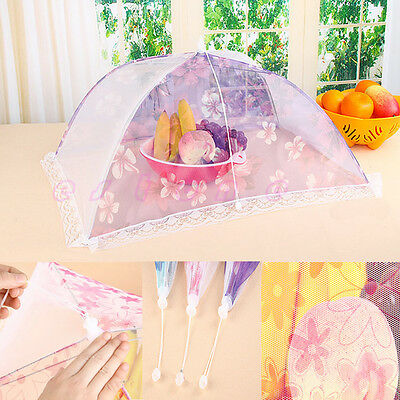 "1PC 27"" x 16""  Lace Food Umbrella Covers Picnic Party Tent Kitchen Folding Tool"