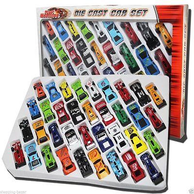 36pc Metal coches de fundición Niños Conjunto de Regalo Navidad F1 Racing Vehículo Niños Jugar Juguete