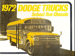 1972 Dodge School Bus Original Sales Brochure Folder - Truck