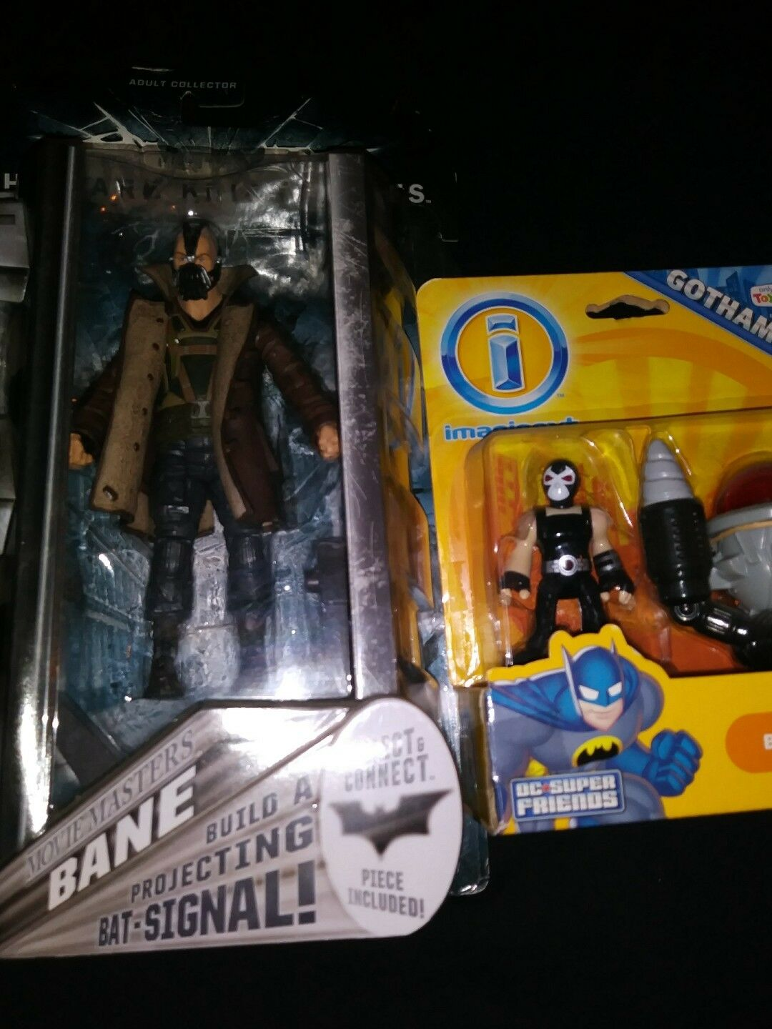 BANE Movie Masters Batman action figure DARK KNIGHT RISES Mattel NEW bat signal