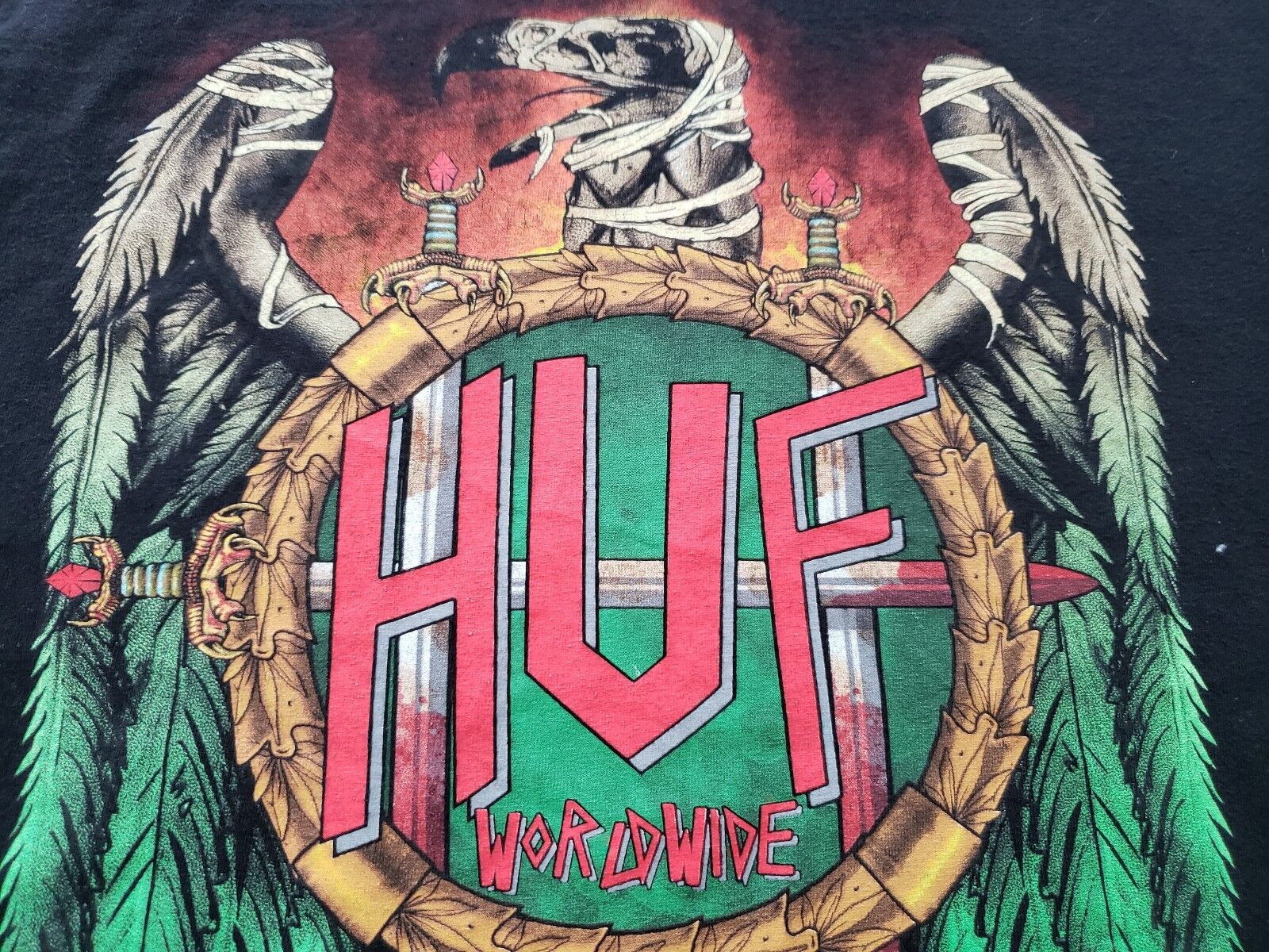 ORIGINAL HUF WORLDWIDE LEGALIZATION TOUR SOME CANCELED DATES 2016 MENS t-shirt L