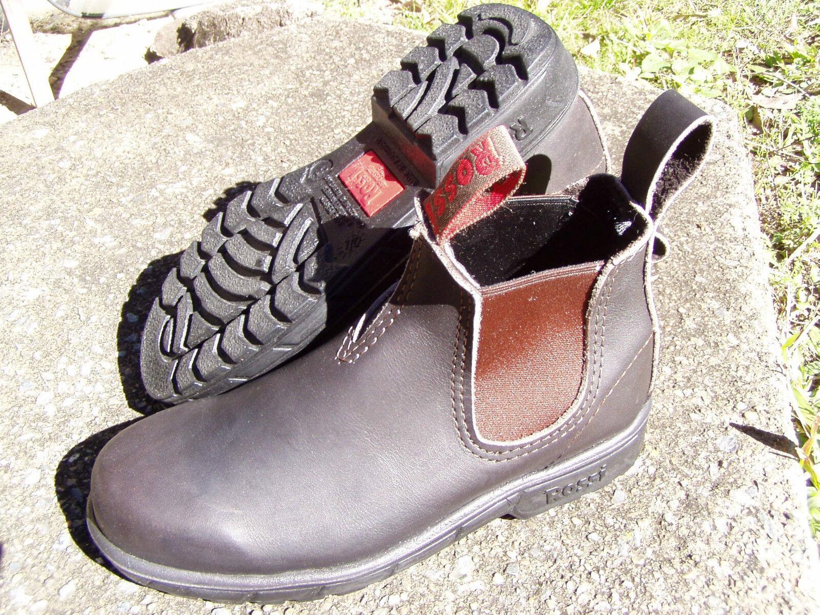 Scarpe casual da uomo  ROSSI Endura 303 Dark Brown (Claret) Boot. New, Unworn