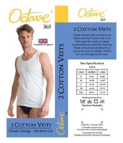 Ottava ® 4 Pack Uomo Morbido 100/% da cotone classico gilet o bianca o nera