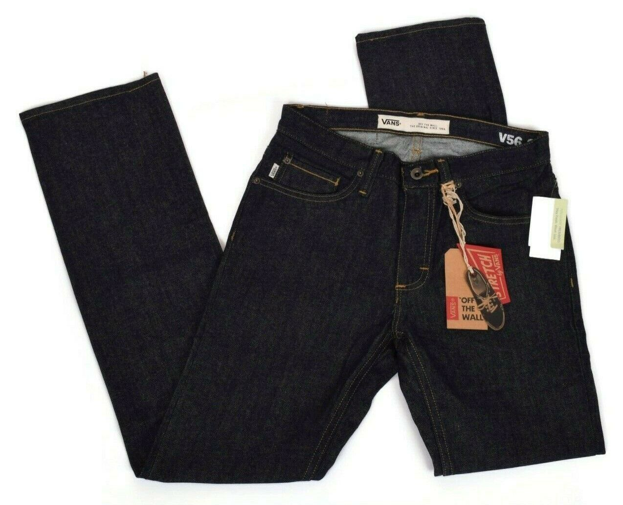 Vans Mens Dark bluee V56 Standard Strech Indigo Denim Jeans NWT Multiple Sizes