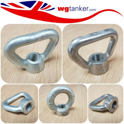 Metric Female Lift Nuts Eye Bolts M20 M24 Triangle M20 Round Galvanised Steel