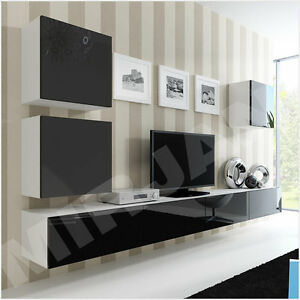 wohnwand lucas 22 tv lowboard tv schrank h ngwand h ngend. Black Bedroom Furniture Sets. Home Design Ideas