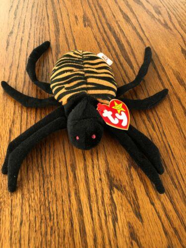 1996 MWMT Stuffed Animal Toy Vintage Retired Ty Beanie Baby SPINNER THE SPIDER