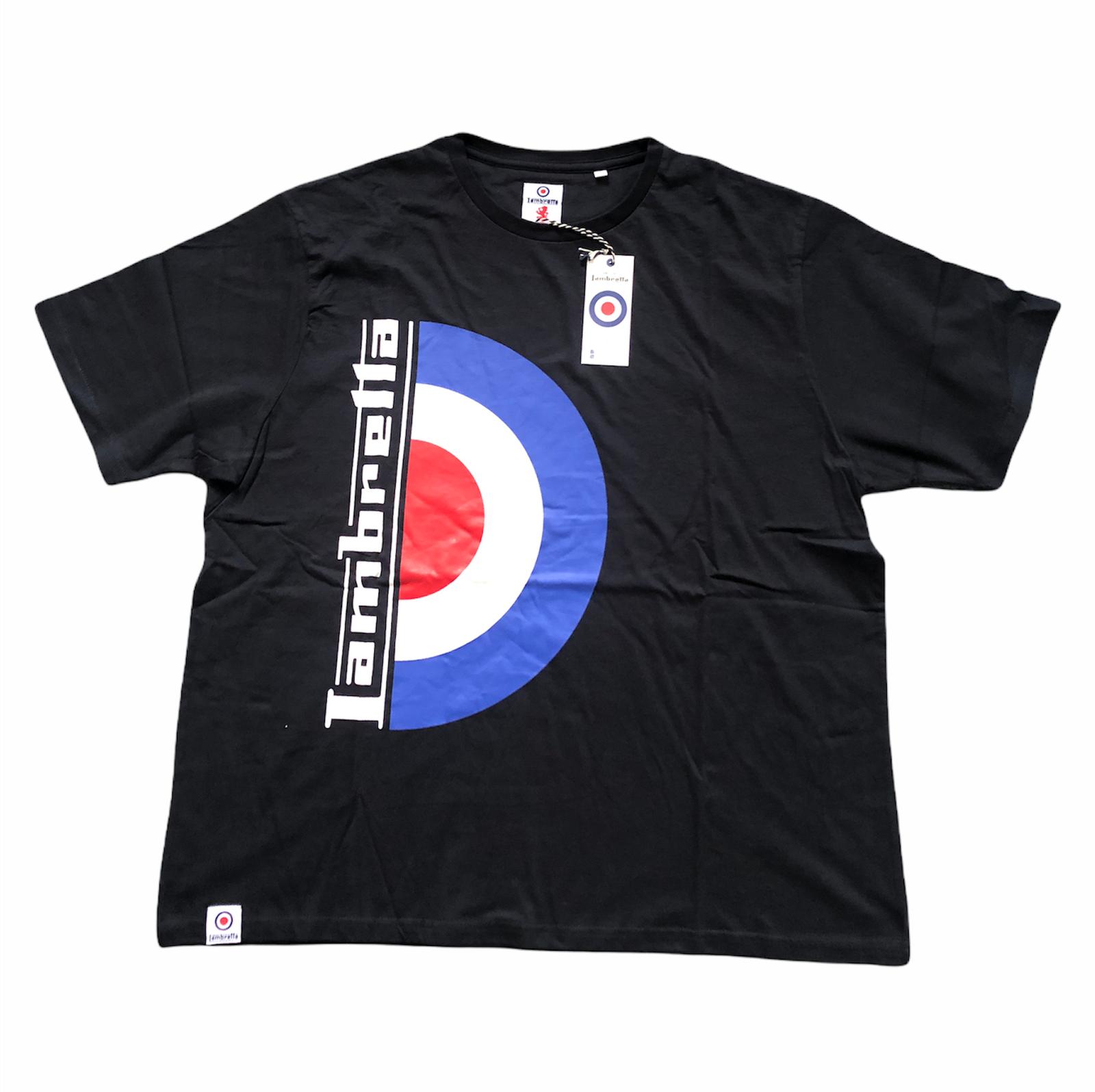 Lambretta Men's Logo T-Shirt Retro Classics XL T-Shirt - Black - New