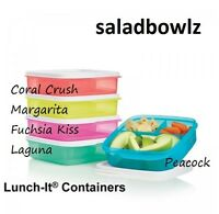 Tupperware Lunch-it Divided Container 3 Sections You Choose Color Freeship