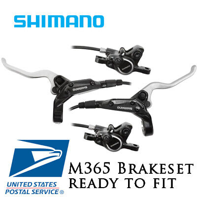 New SHIMANO ALTUS M365 Hydraulic Disc Brake Set pre-bled with Rotors Black MTB
