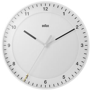 Braun-BC17W-Classic-Large-Analogue-White-Wall-Clock-Gift-Boxed-New