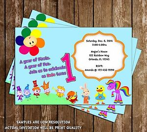 Image Is Loading Baby First TV Birthday Invitations 15 Printed W