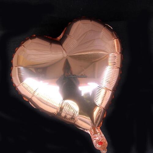 New 1Pcs 18 Inch Rose Gold Stars Heart Balloon Set CLSV