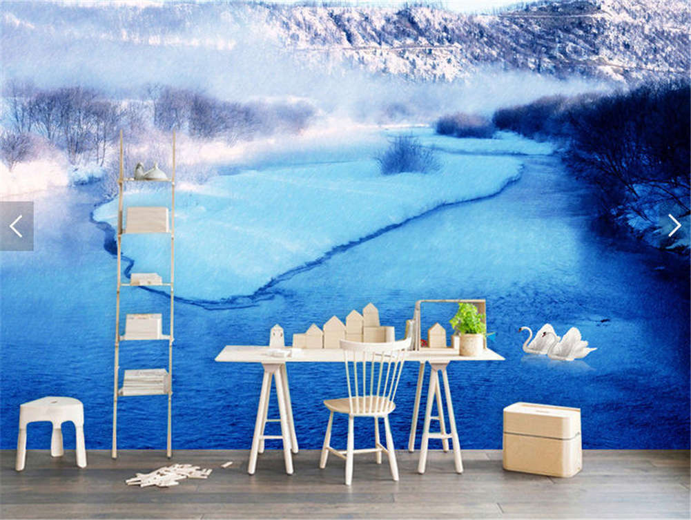 Frozen Subtle Ice 3D Full Wall Mural Photo Wallpaper Printing Home Kids Decor