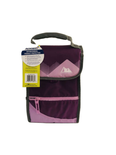 Arctic Zone Tall Purple Lunch Bag With Handle Flip Top  BPA Free Container Zip