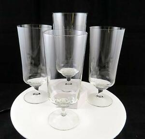 EUROPEAN-DELICATE-FINE-CRYSTAL-PLAIN-CLEAR-4-PIECE-7-3-8-034-ICED-TEA-GLASSES