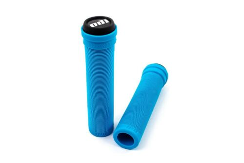 ODI LONGNECK SOFT FLANGELESS LIGHT BLUE BMX BIKE SCOOTER FIXED HYBRID GRIPS
