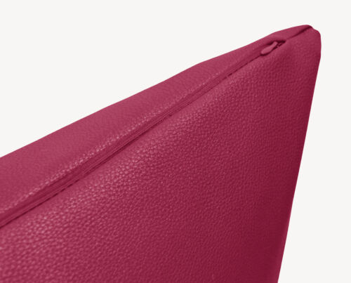Pb304a Fuschia Faux Leather Skin Soft PU Cushion Cover//Pillow Case*Custom Size*
