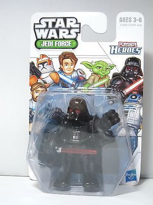 "R121 STAR WARS JEDI FORCE PLAYSKOOL HEROES DARTH VADER 3"" ACTION FIGURE !!!"