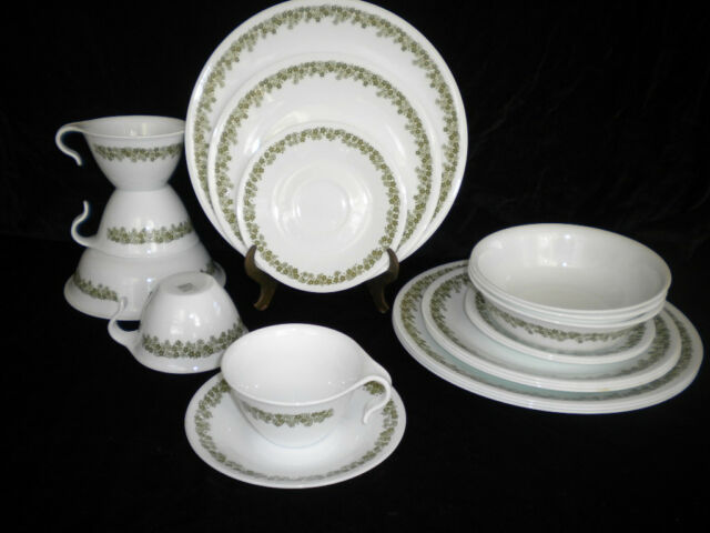 Vintage 1970s Corelle Crazy Daisy Spring Blossom 20 Pc Dinnerware Set Service 4 & Daisy dishes collection on eBay!