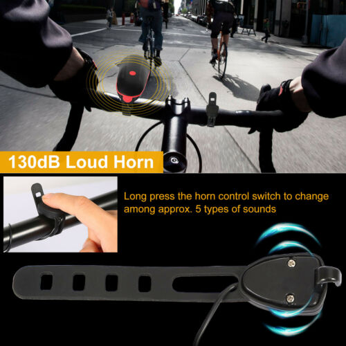 USB Rechargeable LED Bike Light Headlight Taillight Set Cycling Front Tail Rear
