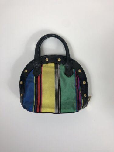 Rare Vtg Gianni Versace Multicolor Mini Bag