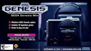 NEW-SEGA-Genesis-Mini-Console-by-Sega-40-games-2-bonus-titles-2-Controllers