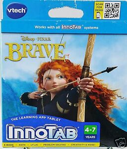 VTech-InnoTAB-Disney-Pixar-BRAVE-Learning-Software-Game-Ages-4-7-years-New