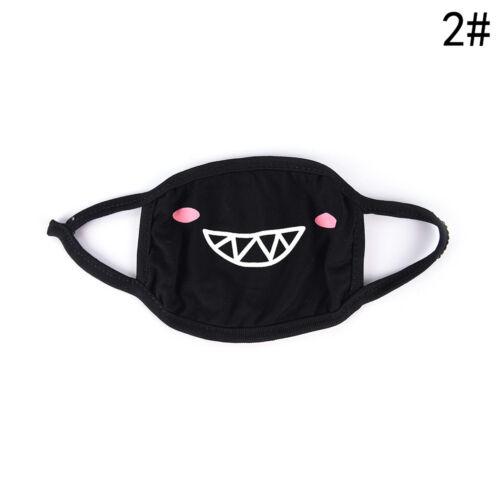 1PC Unisex Cartoon Funny Teeth Mouth Black Three Layers Cotton Half Face Mask XR