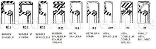 20x28x6mm R21 Caoutchouc Nitrile en Caoutchouc Nitrile Rotatif Arbre Huile Joint//Joint à lèvre
