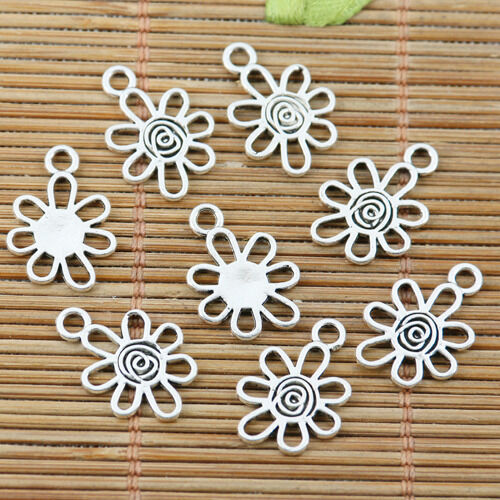 30pcs Tibetan silver sun father charms h2676
