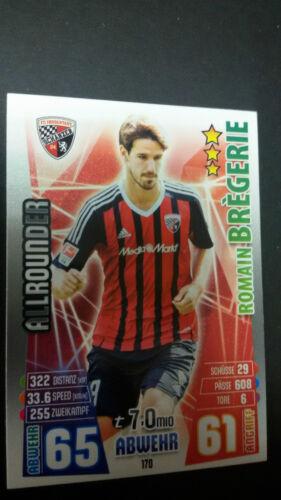 Topps match coronó 2015//2016 todos los jugadores tarjetas FC Ingolstadt 04 para escoger