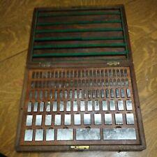 Vintage Nachi Metric Gage Block Machinist Tools Wooden Case 103 Piece Unused