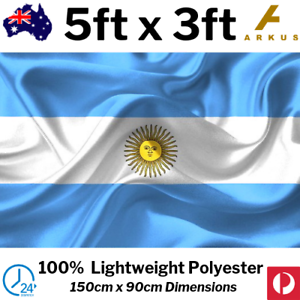Argentina Argentinian Flag Blue White Gold Sun Country National
