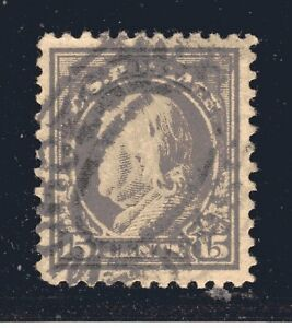 STATI-UNITI-Francobollo-514-15c-Washington-Franklin-Definitivo-1917-Usato
