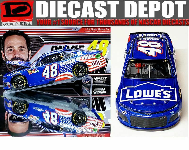 JIMMIE JOHNSON 2018 LOWES POWER OF PRIDE 1 24 ACTION COLLECTOR NASCAR DIECAST