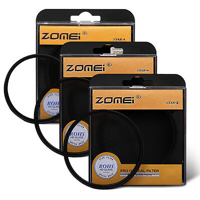 Zomei® 72mm professional star-effect star burst twinkle Lens +4+6+8 pointed kit