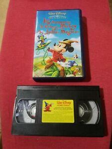Las-Aventuras-de-Bongo-Mickey-y-Las-Judias-Magicas-Pelicula-En-Cinta-VHS-usada
